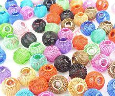 Earrings Mesh Spacer Beads Craft