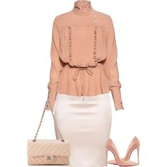 A fashion look from February 2018 featuring Stella Jean blouses, Christian Louboutin pumps and Chanel handbags. Browse and shop related looks. Trend Fashion, Work Fashion, Modest Fashion, Runway Fashion, Fashion Looks, Womens Fashion, Fashion Design, Classy Outfits, Chic Outfits
