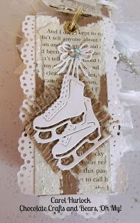 Carol Hurlock: Chocolate, Crafts, and Bears, Oh MY! for CottageBLOG: CottageCutz Coin Mini Album - 12/29/13.  (Dies: Ice Skates).  (Pin#1: Dies: Cottage Cutz.  Pin+: Christmas: Tags...;  Christmas: Stockings/.....)