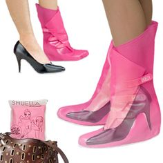 :) Shuellas: Umbrellas to protect your shoes & keep feet dry.