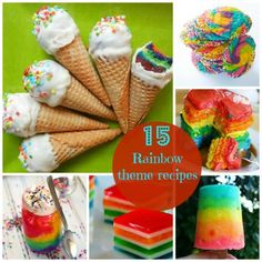 15 Rainbow Themed Recipes to celebrate St. Patrick's Day or any day! www.spoonful.com #rainbow