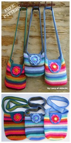 Weekend Bag Free Crochet Patterns - Crochet Bags, Baskets and Purses - Free Crochet Bag, Crochet Purse Patterns, Crochet Tote, Crochet Handbags, Crochet Purses, Crochet Crafts, Bag Patterns, Sewing Patterns, Bag Pattern Free