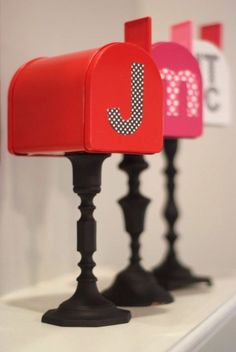 Valentine's Daysnail mail just got way better:This blogger's mailbox DIY required little more than spray paint, dollar-store mailboxes and patterned lettering.Click through for the tutorial and for more Valentine's Day crafts to make this February.
