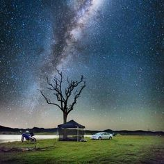 Camping under the stars alongside Lake Awoonga at Boynedale Bushcamp. Adventure Holiday, Gladstone, Camping And Hiking, Under The Stars, Great Barrier Reef, Continents, Northern Lights, National Parks, Australia