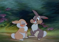 Pin for Later: 38 of the Best Disney Kisses of All Time Thumper and Girl Bunny, Bambi Panpan Disney, Disney E Dreamworks, Disney Amor, Disney Kiss, Cute Disney, Disney Magic, Disney Movies, Disney Animation, Disney Mignon