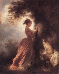 The Souvenir - Jean-Honore Fragonard, 1778