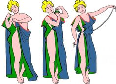 Greek and Roman women's clothing was held together by using rope, pins, and brooch type fastening's.