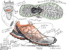 Trail running shoe for the Quechua team.As an ultimate shoe with the Quechua trail design language, I wanted this shoe to express the concept of the whole trail running shoe collection at it's extreme. Starting with the support structure of the upper (in…