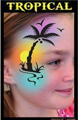 Image result for tropical face painting #facepaintingideasforadults