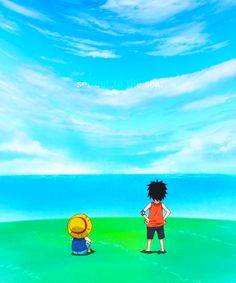 """Listen, Luffy. We will definitely live life without regrets! Someday we will set out to sea, and live life the way we want to! With more freedom than anyone else!"""