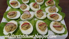 RETETE: Oua umplute Sushi, Ethnic Recipes, Food, Salads, Essen, Meals, Yemek, Eten, Sushi Rolls