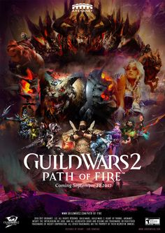 Guild Wars 2 Path of Fire Movie Poster , Luke Dowding on ArtStation at https://www.artstation.com/artwork/aVJvX