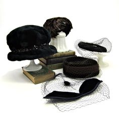 vintage hats for women | vintage hats! Clean and fresh collection of five vintage women's hats ...