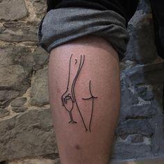 Naked wine out on this winebags calf  Done'zo @olyangertattoo  #tattoo #tattoos  #tattooartist #tatouage #tattooart #montreal #montrealtattoo #montrealfashion  #art  #btattooing #blacktattooart #blackworkerssubmission #drawing #girlswithink #girlswithtattoos #ink #illustration #linework #хоумтату  #black #minimalism  #blacktattoomag #darkartists #yungshitdia #tttism