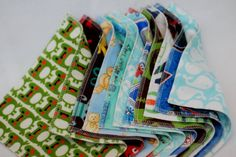 Reusable Cloth Wipes or Family Cloth  Boy Prints  Set by mamamade, $10.00