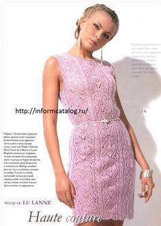 модель платье спицами,