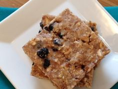 Blueberry Almond Protein Bars - The Kitchen Table - The Eat-Clean Diet®  will try with fresh bluberries