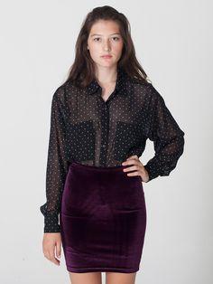 American Apparel - Velvet Pencil Skirt