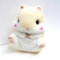 "AMUSE Hamster Plush Coroham Coron Stuffed Animal 11"" (Purin - Beige…"