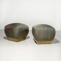 Karl Springer, Copper-Based Stools, c1950.