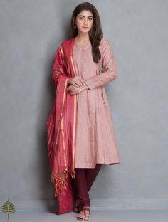 Buy Mud Red Angrakha Mangalgiri Kurta by Jaypore Online at Jaypore.com