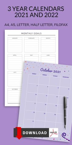 Keep all your tasks in order with this collection of 3 Year Calendars 2021 And 2022 Printable. Get it now in PDF format and enjoy professionally-designed template. To achieve results, it is necessary not only to understand what exactly you want but also to engage in proper planning of your schedule, correctly allocating time for work, rest and other activities. Calendar Printable, Get It Now, Planner Template, Schedule, Rest, Pdf, Printables, Templates, Activities