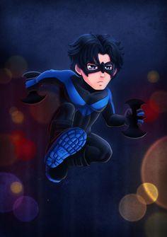 Batman Character Chibi Fan Art - Nightwing