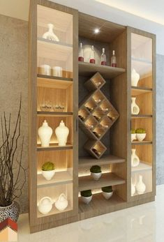 Among the furnishings that you can have is an attractive cupboard. Attractive closets have a variety of functions while enhancing your home. #DisplayCabinet #DisplayCabinetBedroom Kitchen Room Design, Kitchen Cabinet Design, Home Decor Kitchen, Kitchen Interior, Home Interior Design, Lobby Interior, Living Room Partition Design, Room Partition Designs, Home Decor Furniture