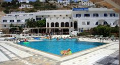 Armadoros Hotel / Ios Backpackers Ios Chora Armadoros Hotel is situated in Yialos, only 200 metres from the port of Ormos in Ios. It offers a large swimming pool with poolside bar and barbeque area.  The hotel has 64 rooms and apartments with a refrigerator and a safety deposit box.
