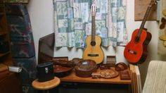 More teak and guitars $20 to $ 50 fot each item