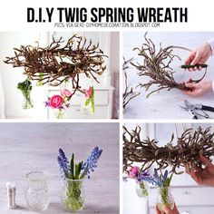 Greet Spring with a DIY Twig Wreath, TUTORIAL HERE!