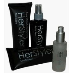 Click on the image for more details! - HerStyler 4 Piece Hair Care Set Shampoo Conditioner Hair Spray Serum (Health and Beauty)