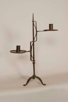 Hand-forged Iron Candle Stand image 3