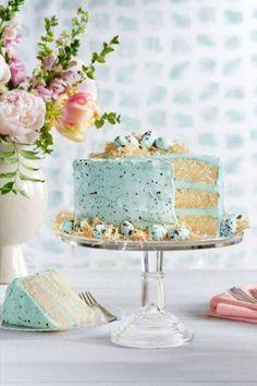 Spring Speckled Robin's Egg Cake