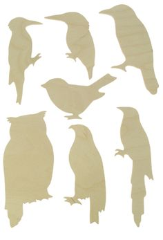Bird Wooden Templates