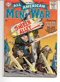 DC COMICS ALL AMERICAN MEN OF WAR #34 JUNE 1956 Low Grade