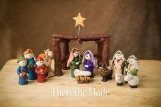 delightful clay nativity how to.  Clear, step by step instructions courtesy of thenshemade - GREAT for kids to handle and learn the true story of Christmas.