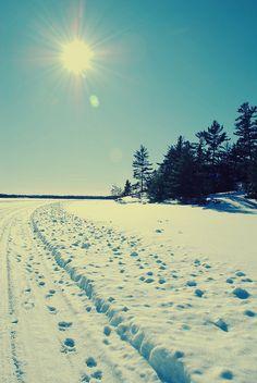 Rainy Lake Ice Road, Voyageurs National Park, Minnesota | Photo by Christina Hausman