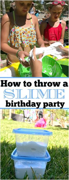 It's all the rage! This is how to throw a slime birthday party which will make you the coolest parent around and the kids will have an absolute blast! #slime #party #birthdayparty #birthday via @thetypicalmom
