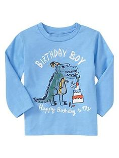 My dinosaur loving CT needs this for his birthday! Long-sleeve graphic T | Gap