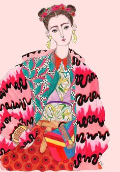 "Fashion Drawings Illustration by Jérémy Combot - Self-taught illustrator Jérémy Combot says that he's ""guided by passion"" in creating his fashion-centric portraits. They're colorful and insanely detailed. Illustration Sketches, Illustrations And Posters, Fashion Illustrations, Fashion Sketchbook, Fashion Sketches, Fashion Drawings, Sketchbook Ideas, Look Fashion, Fashion Art"