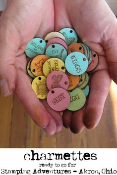 Color wood tags
