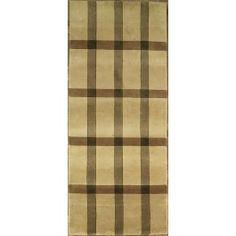 Handmade Rectangular Modern Style Runner Area Rug in Gold, 2x10 area rugs