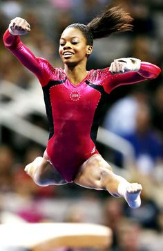 A gymnast who truly loves her sport. She never stops smiling what an inspiration <3 gabby douglas