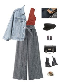 """Everybody knows."" by greciapaola ❤ liked on Polyvore featuring Gap, Eqüitare, Brixton and Parra"