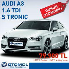 Dinamizmi ve teknolojiyi Audi kalitesiyle birleştiren Audi A3 düşük yakıt tüketimiyle de cebinizin dostu... Günün Otomobili: Audi A3 1.6 TDI 105 Attraction S Tronic Model Yılı: 2013 KM: 8.830 km Fiyat: 79.900 TL Detaylı teknik bilgi ve avantajlı ödeme koşulları için tıklayın: http://www.otomol.com/AracDetay.aspx?U=8639