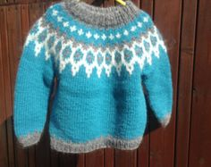 Made to order Icelandic sweater baby sweater handknit by Klettur