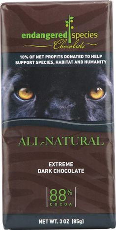 Endangered Species Chocolate - healthy and for a good cause!