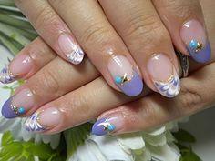ピーコックとターコイズ 【NAIL GARDEN】 http://nail-beautynavi.woman.excite.co.jp/design/detail/25802?pint ≪ #nail #nails #nailart #softgel #natural #purple #ネイル #ソフトジェル≫