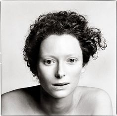 Photographed by Richard Avedon: Tilda Swintons unique bone structure and face is explored in this straight forward photograph. Description from pinterest.com. I searched for this on bing.com/images